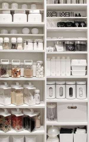 white storage cupboard kitchen