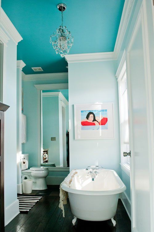 turquoise bathroom