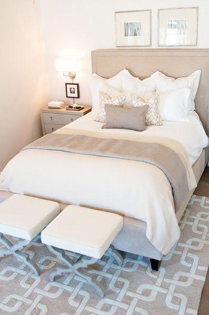 beige guestroom bedroom throws