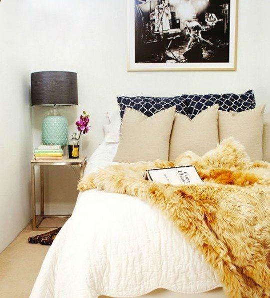 fur throw bedroom