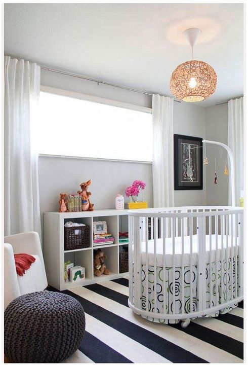 white nursery light