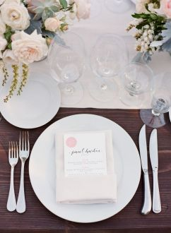 #place-settings, #menus Photography: KT Merry - ktmerry.com Event Planning: MAP Events - mapevents.com Floral Design: Cherries - cherriesflowers.com/ Read More: stylemepretty.com...
