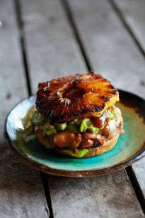 Hawaiian BBQ Salmon Burgers with Coconut Caramelized Pineapple: http://www.halfbakedharvest.com/hawaiian-bbq-salmon-burgers-with-coconut-caramelized-pineapple/