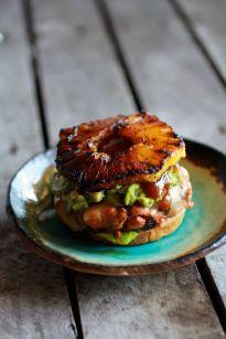 Hawaiian BBQ Salmon Burgers with Coconut Caramelized Pineapple: http://www.halfbakedharvest.com/hawaiian-bbq-salmon-burgers-with-coconut-caramelized-pineapple/