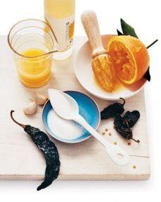 Chili Gastrique: http://www.marthastewart.com/316458/chili-gastrique?czone=food%2Fbest-grilling-recipes%2Fgrilling-recipes&gallery=274688&slide=283797&center=276943
