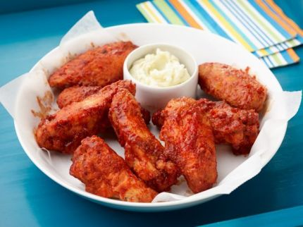 http://www.foodnetwork.com/recipes/geoffrey-zakarian/bbq-chicken-wings-with-blue-cheese-butter.html
