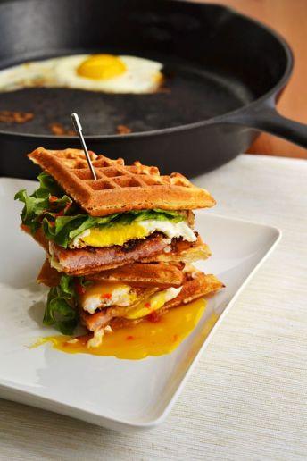 http://dinnersforwinners.wordpress.com/2014/05/15/maple-fried-ham-and-egg-waffle-sandwiches/