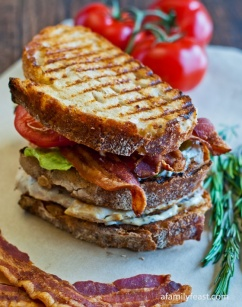 GRILLED CHICKEN CLUB WITH ROSEMARY AIOLI: http://www.afamilyfeast.com/grilled-chicken-club-with-rosemary-aioli/